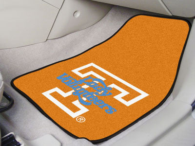 The UT Volunteers 2 Piece Carpeted University of Tennessee Car Floor Mat Set - FanMats 8292