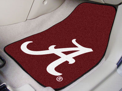 The Bama Crimson Tide 2 Piece Carpeted University of Alabama Car Floor Mat Set - FanMats 8307