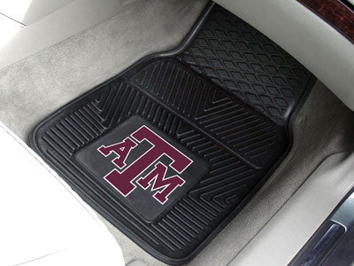 The TAMU Aggies Vinyl Automotive Car Floor Mat Set - Fan Mats 8767