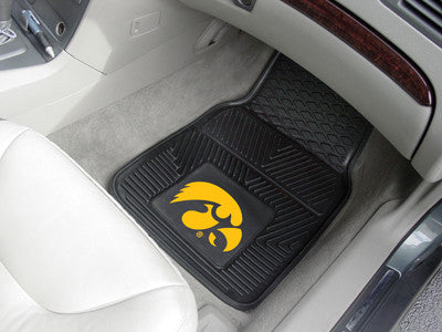 The Iowa Hawkeyes Vinyl Automotive Car Floor Mat Set - Fan Mats 8870