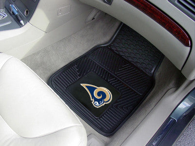 The Los Angeles Rams Vinyl Car Floor Mat Set - FanMats 8906