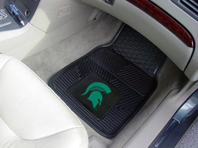 The MSU Spartans Vinyl Automotive Car Floor Mat Set - Fan Mats 8918