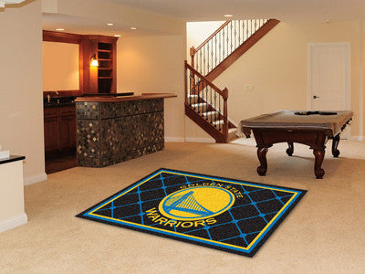 NBA - Golden State Warriors Man cave tailgating Rug 5x8