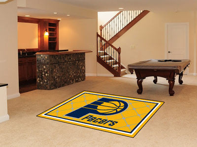 NBA - Indiana Pacers Man cave tailgating Rug 5x8