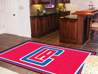 NBA - Los Angeles Clippers Man cave tailgating Rug 5x8
