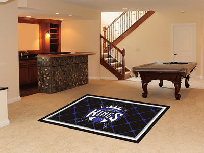 NBA - Sacramento Kings Man cave tailgating Rug 5x8