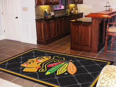 The Chicago Blackhawks 5X8 NHL Area Rug - FanMats 10376