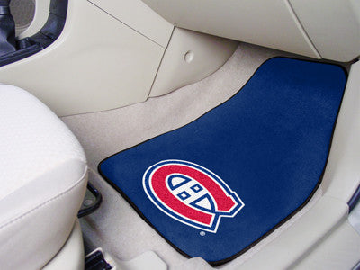 NHL - Montreal Canadiens 2-pc Printed Carpet Car Mats
