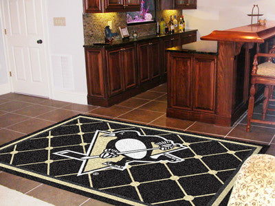 The Pittsburgh Penguins 5X8 NHL Area Rug - FanMats 10439