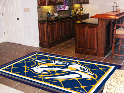 The Nashville Predators 5X8 NHL Area Rug - FanMats 10589