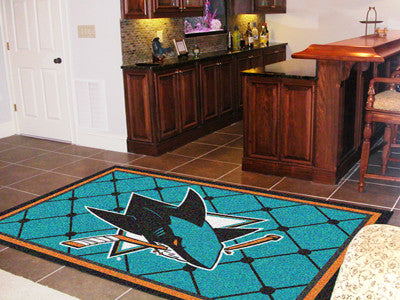 The San Jose Sharks 5X8 NHL Area Rug - FanMats 10677
