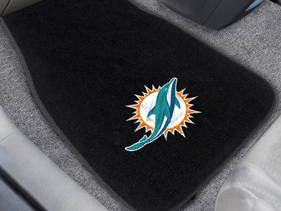 The Miami Dolphins Embroidered Car Mat Set - Fan Mats 10755