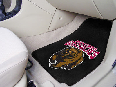 The Griz Grizzlies 2 Piece Carpeted University of Montana Car Floor Mat Set - FanMats 11782