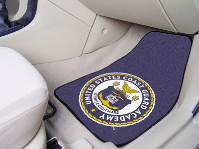 The CGA Bears 2 Piece Carpeted U.S. Coast Guard Academy Car Floor Mat Set - FanMats 11833