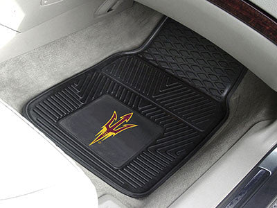 The ASU Sun Devils Vinyl Automotive Car Floor Mat Set - Fan Mats 11933