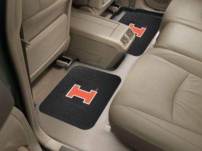 Illinois Fighting Illini Rear Seat Car Floor Mat Set 12281
