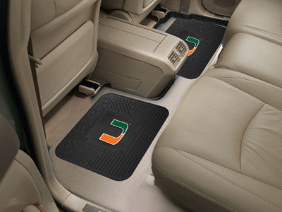 Miami Hurricanes Rear Seat Car Floor Mat Set 12287