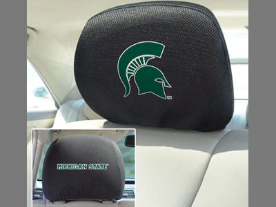 The MSU Spartans Automotive Head Rest Cover - FanMats 12583