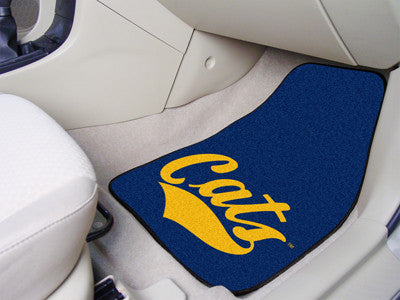 The MSU Bobcats 2 Piece Carpeted Montana State University Car Floor Mat Set - FanMats 12611