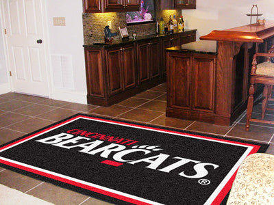 The UC Bearcats Area Rug Size 5x8, Fan Mats 13581