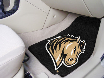 The SMSU Mustangs 2 Piece Carpeted Southwest Minnesota State University Car Floor Mat Set - FanMats 13700