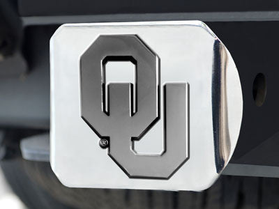 The OU Sooners Chrome Trailer Hitch Cover - FanMats 15067