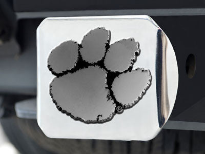 The Clemson  Tigers Chrome Trailer Hitch Cover - FanMats 15079