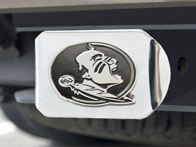 The FSU Seminoles Chrome Trailer Hitch Cover - FanMats 15085