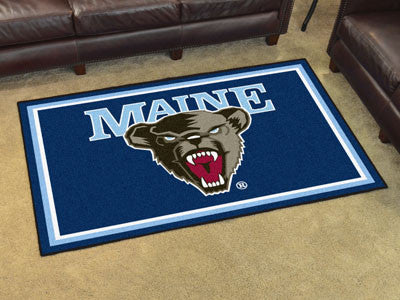 The Maine Black Bears Area Rug Size 5x8, Fan Mats 15586