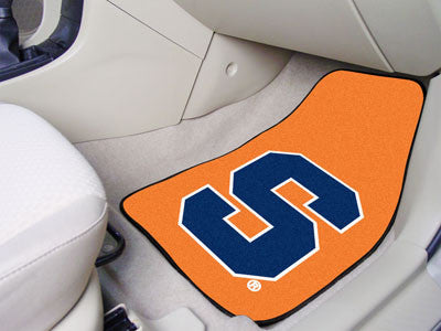 The Syracuse  Orange 2 Piece Carpeted Syracuse University Car Floor Mat Set - FanMats 15952