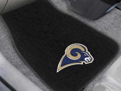 The Los Angeles Rams Embroidered Car Mat Set - Fan Mats 17134