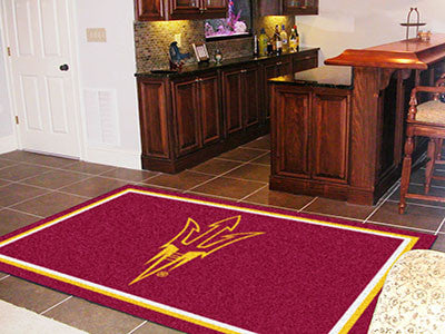 The ASU Sun Devils Area Rug Size 5x8, Fan Mats 17149