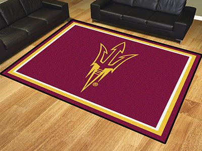 The ASU Sun Devils Pitchfork Logo 8x10 Area Rug - Fan Mats 17395