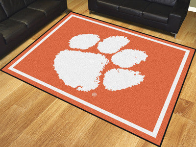 The Clemson  Tigers 8x10 Area Rug - Fan Mats 17402