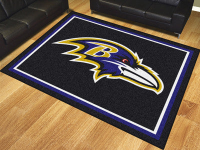 Baltimore Ravens 8 x 10 Area Rug FanMats 17474