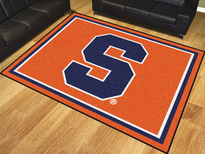 The Syracuse  Orange 8x10 Area Rug - Fan Mats 17540