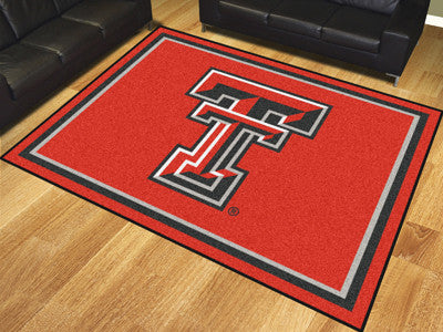 The TTU Red Raiders 8x10 Area Rug - Fan Mats 17542
