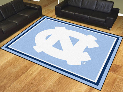 The UNC Tar Heels 8x10 Area Rug - Fan Mats 17544