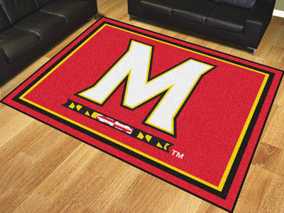 The UM Terrapins 8x10 Area Rug - Fan Mats 17557