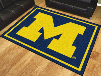The Michigan Wolverines 8x10 Area Rug - Fan Mats 17560