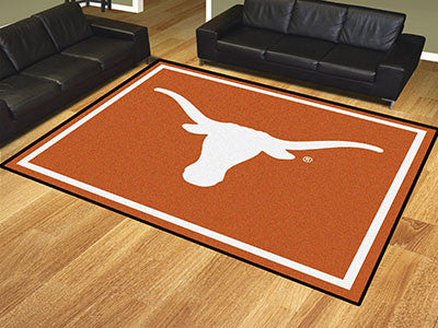 The UT Longhorns 8x10 Area Rug - Fan Mats 17569