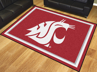 The WSU Cougars 8x10 Area Rug - Fan Mats 17575