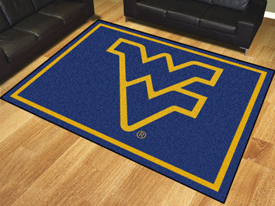 The WVU Mountaineers 8x10 Area Rug - Fan Mats 17576