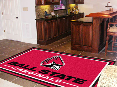 The Ball State Cardinals Area Rug Size 5x8, Fan Mats 18701