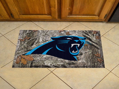 The Carolina Panthers Camo Scraper Mat - FanMats 18945