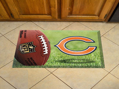 The Chicago Bears Ball Scraper Mat - FanMats 18946