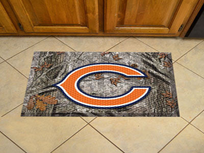 The Chicago Bears Camo Scraper Mat - FanMats 18947