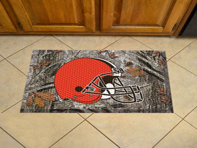 The Cleveland Browns Camo Scraper Mat - FanMats 18951