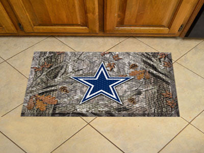The Dallas Cowboys Camo Scraper Mat - FanMats 18953