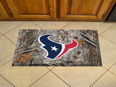 The Houston Texans Camo Scraper Mat - FanMats 18961